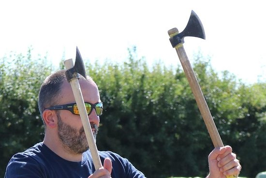 Ascia e coltello Lancio per vichinghi di ogni tipo