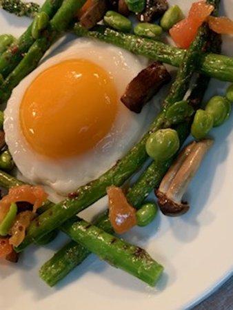 Duck egg salad