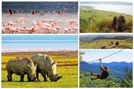 Lago Nakuru, Baboon Cliff, Makalia y Forest Zip ling o Menengai...