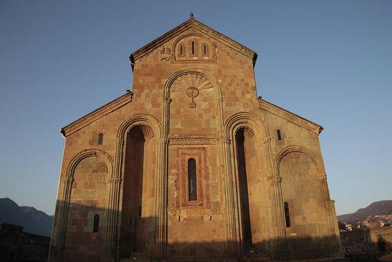 Mtskheta, Georgia, Svetitskhoveli Cathedral - eastern facade.