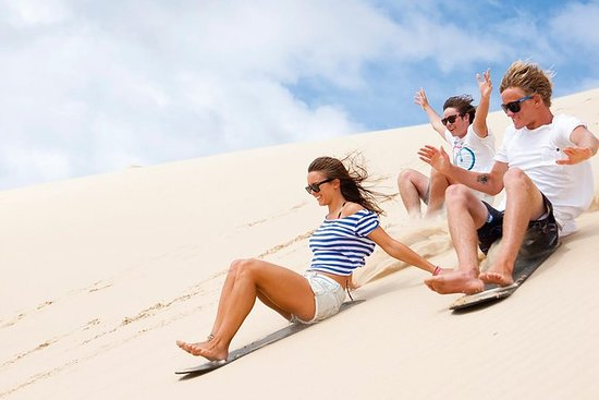 Port Stephens Day Tour with Dolphin Watching, Sandboarding...