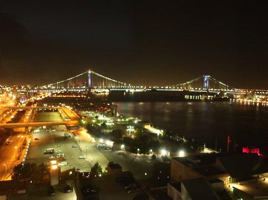 View at night.