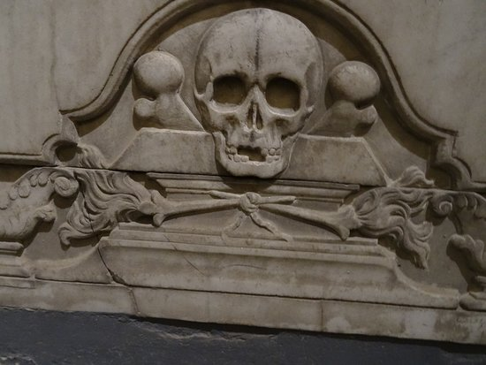 Tournai, Notre Dame Cathedral, detail tombstone