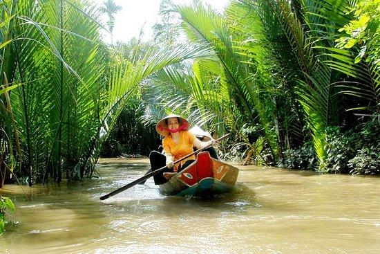 湄公河三角洲浮动市场一日游与传统烹饪课
