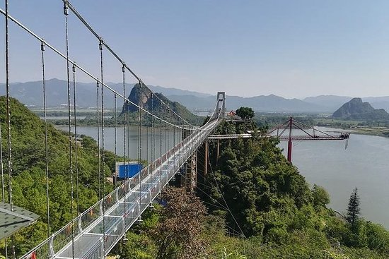 Baojing Palace Cave and Glass Skywalk Bridge private tour
