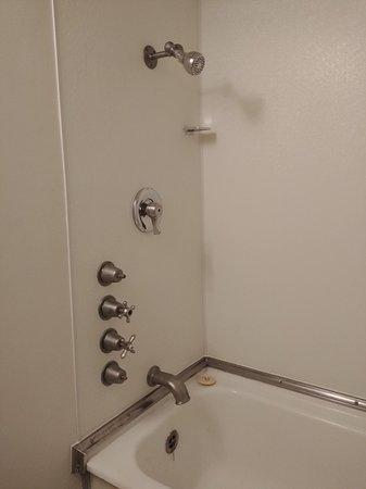 Shower - with original fixtures.