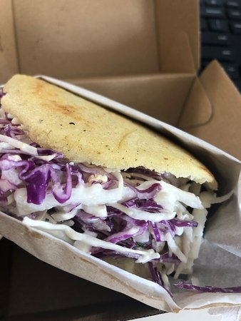 Black Bean and Feta with extra Coleslaw