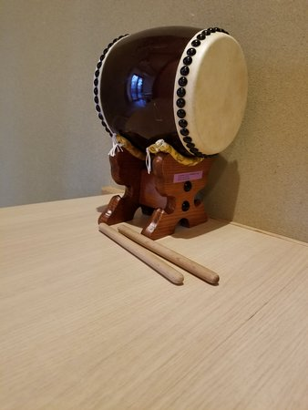 Cool traditional miniature taiko drums