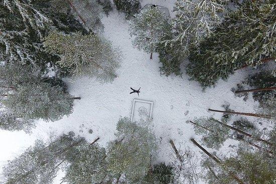 国立公園の冬のワンダーランドハイキング
