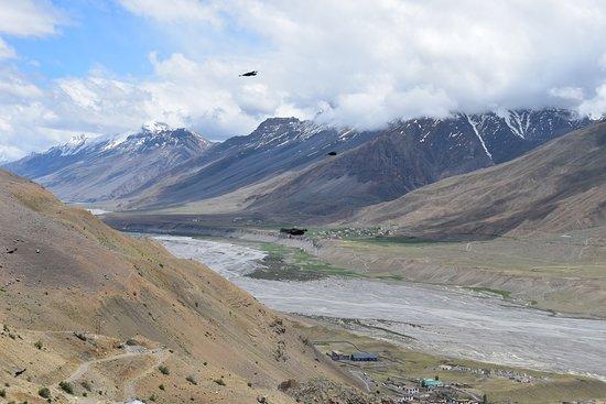 Himachal Pradesh, India: View of Spiti valley from Ki Monastery.