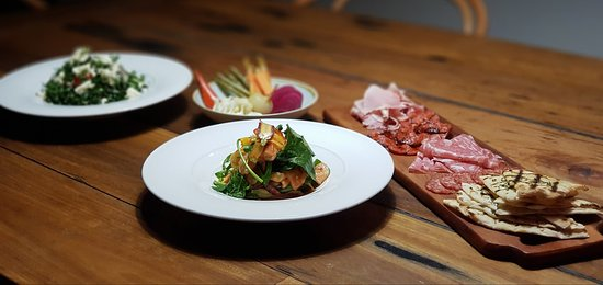 Charcuterie platter and Ceviche