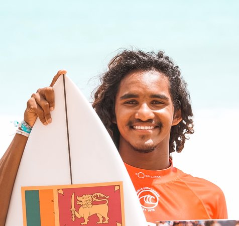 Lucky, our head coach and the best surfer of Sri Lanka.