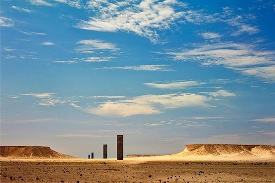 Qatar West Coast Tour, Zekreet, Richard Serra Skulptur, Mushroom Rock ...
