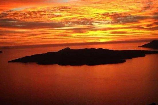 Santorini Summer Panorama Fotografie