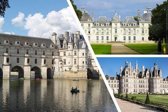 LOIRE VALLEY: Ditt utvalg av tre slott å besøke (dagstur fra PARIS)