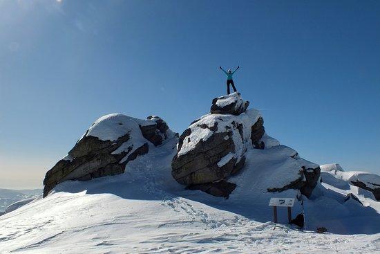 Enjoying snow at 1800 meters altitude