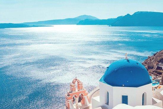 Panorama de invierno de Santorini