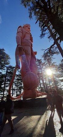 Shimla, India: 108 ft tall Hanuman ji at Jakhu temple