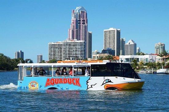 ゴールドコースト水陸両用車で行くアクアダックトシティと運河のツアー