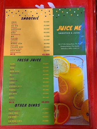 Amazing Juice and Smoothies .. Highly Recommend!