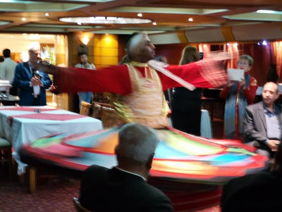 Nile dinner cruise with private transfer.:  spectacular male dancer