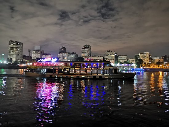 Nile dinner cruise with private transfer.: wonderful city sight from the deck