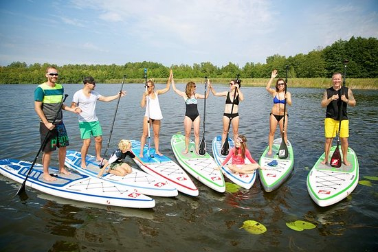 Stand Up Paddling course in the city...