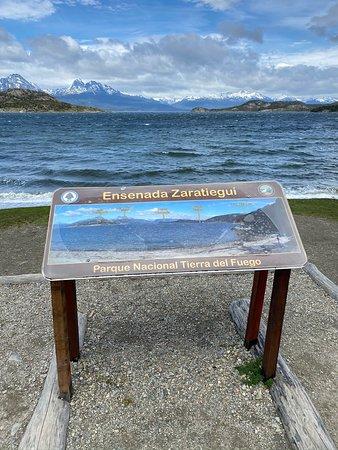 Ensenada Zaratiegui Bay - sign