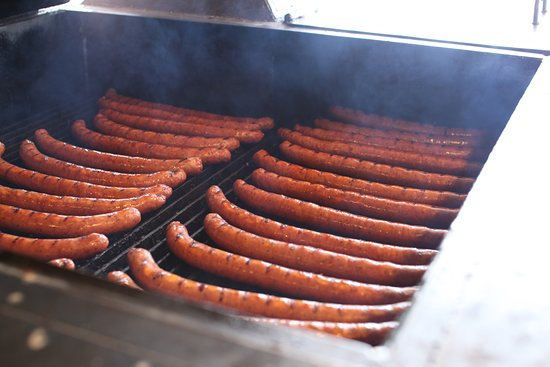 Rope on the pit. Original Beef Sausage. Since 1882.