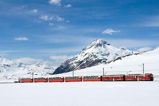 Comer See, St.moritz und der rote Zug