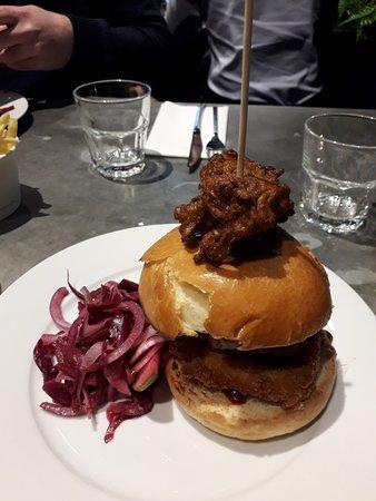 Xmas dinner burger
