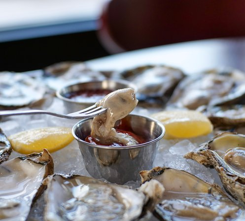We always have a wonderful selection of fresh Oysters served on the Half Shell.