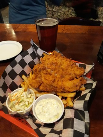 Leckere Fish and Chips im Griffon