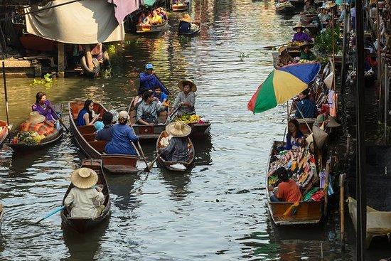 私人遊覽Maeklong鐵路和浮動市場