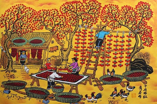 All Inclusive Huxian Day Tour From Xian: Cook and Paint With Local...