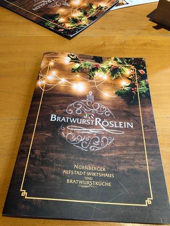Bratwurst Roeslein - menu