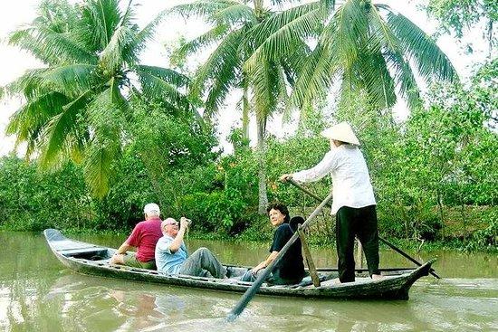 来自胡志明市的湄公河三角洲发现DELUXE小组导游