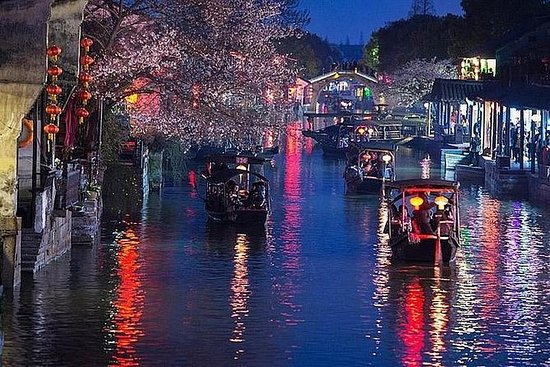 Privat nattur til Xitang Water Town fra...