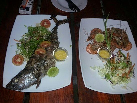 Kuma Seafood Restaurant: Рыбка и креветки