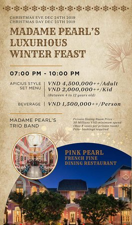 CHRISTMAS DINNER AT PINK PEARL