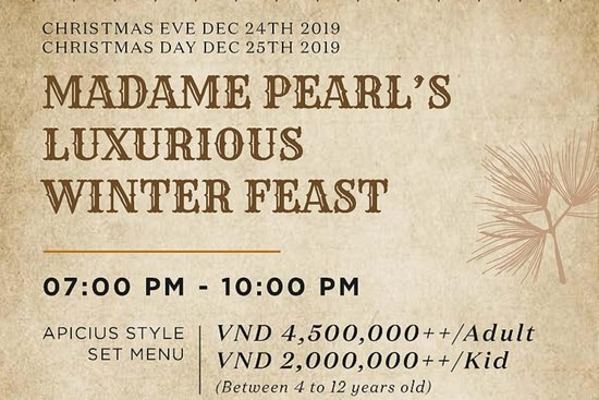 CHRISTMAS CELEBRATIONS AT PINK PEARL