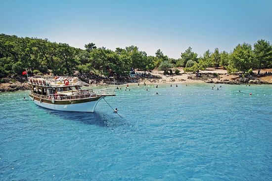 Excursion en bateau sur l'île Cléopâtre au départ de Marmaris