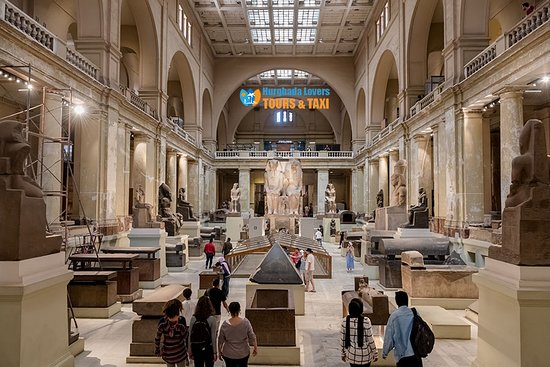 Giza, Egipto: Egyptian Museum Cairo from inside Antiquities History & Heritage Pharaonic – Hurghada Excursions https://hurghadalovers.com/egyptian-museum/