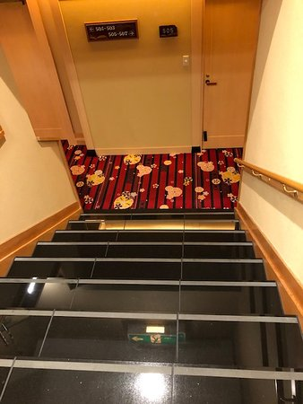 After using the lift to arrive at our floor, we had to walk down this staircase to reach our room. For handicap guests, this was ridiculous.