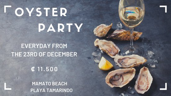We do have fresh oyster in Mamato Beach