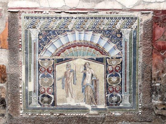 Vista ravvicinata del mosaico