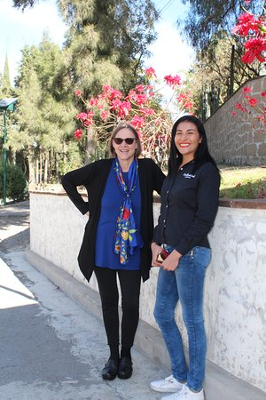 Susana and me after the morning tour