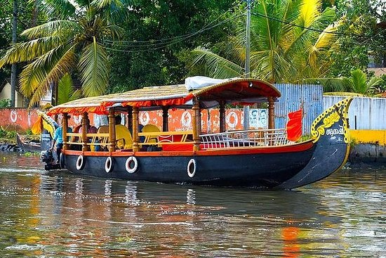 Vom Hafen von Cochin: Backwaters mit...