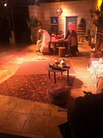 This was the play from what they called Mary's House.  It was when Joseph was choosing Mary to be his wife and Mary being choosen by God to carry Jesus.