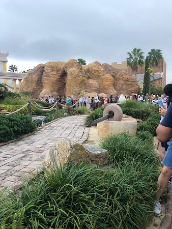 This was the picture of the ride to Bethlehem on a Donkey.  The crows gathered around for the performance to start.